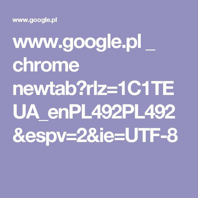 www.google.pl _ chrome newtab?rlz=1C1TEUA_enPL492PL492&espv=2&ie=UTF-8