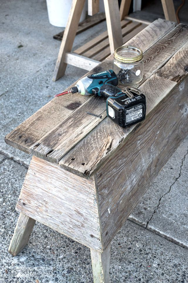 Best Farmhouse Tables Images On Pinterest Farmhouse Table - Charming vintage diy sawhorse coffee table
