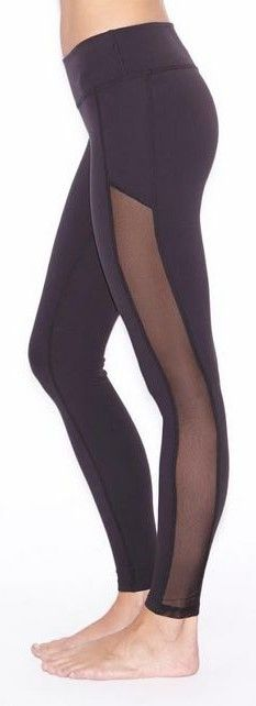 Crystal Mesh Long Legging by Beyond Yoga