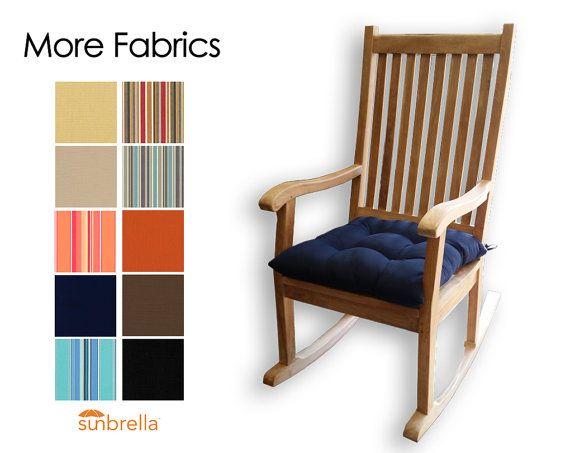 Sunbrella Rocking Chair Seat Cushion   Choose Your Fabric   Porch Rocker  Cushion