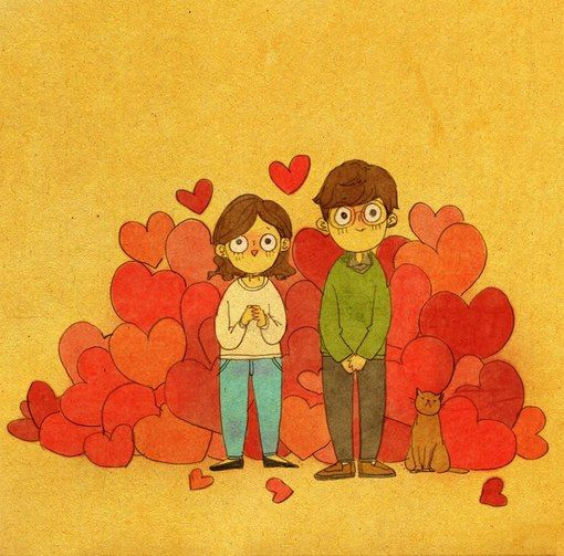Best Love Is In Small Things Images On Pinterest Small - Cute illustrations capture how love is in the small things