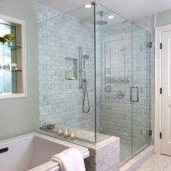 XXL shower space
