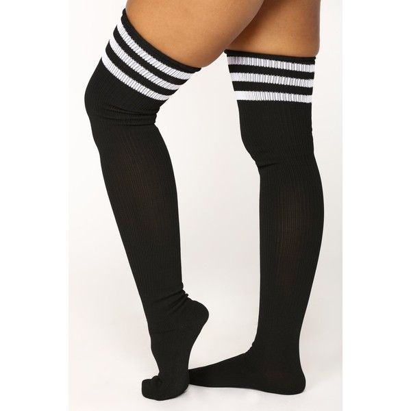 Over the knee socks in soft stretch nylon fabric.