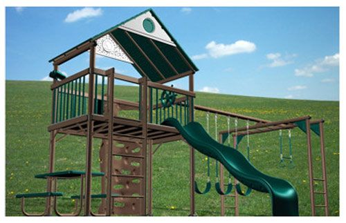 Lifetime 438001 Deluxe Metal Swingset - Reviews on top branded playsets, swingsets, and playground accessories