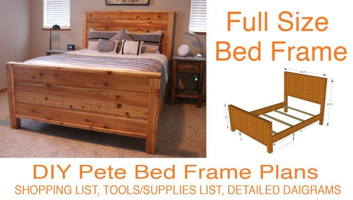 How To Make A Bed Frame Free Bed Frame Plans Diy Bed Frame