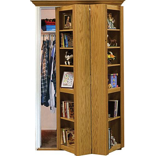 Bookcase closet door kit woodworking projects plans for Bookcase closet