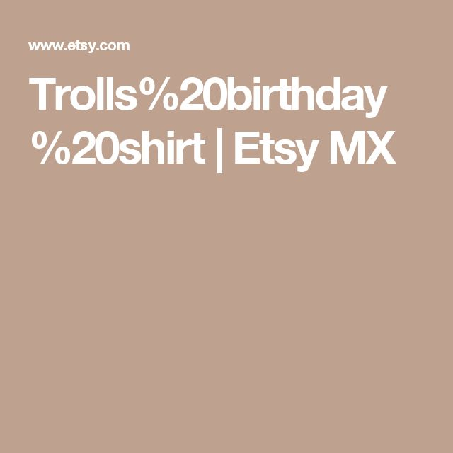 Trolls%20birthday%20shirt | Etsy MX