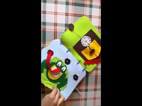 Quietbook libro sensoriale bambino di 8 mesi - YouTube