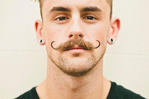 Curly Mustache Face Paint