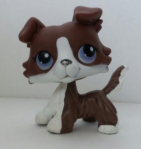 Rare 2007 Littlest Pet Shop Brown Collie Purple Eyes Lps 1542