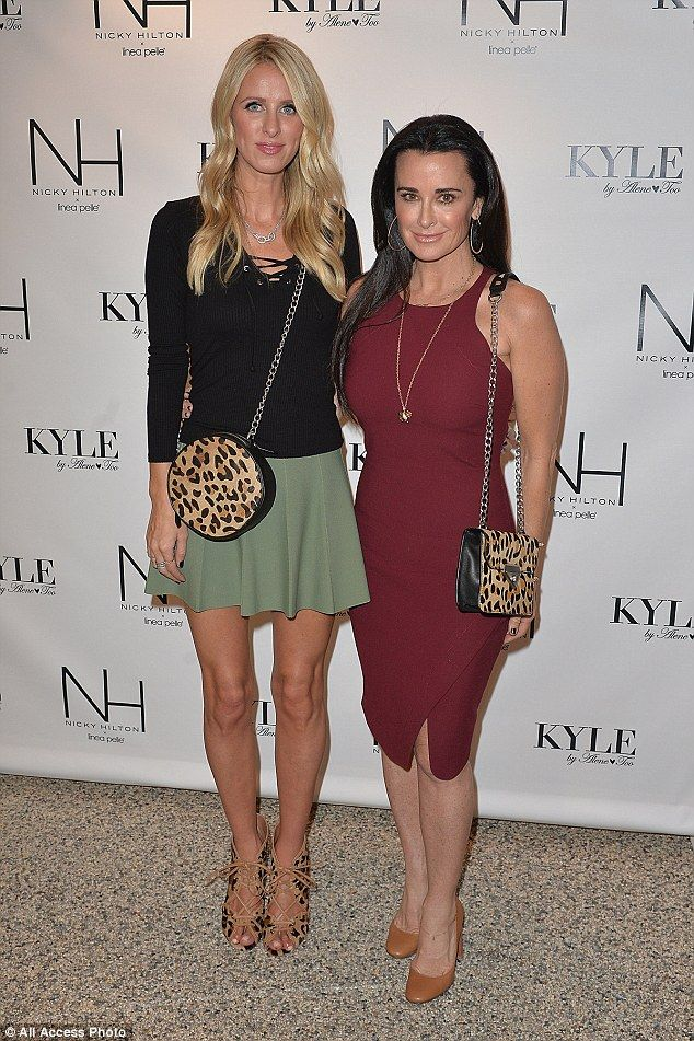 Fine-looking family: Hilton featured her trunk show collection at her aunt Kyle Richards' ...