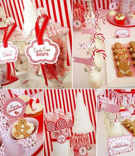 Decorazioni natalizie con le caramelle