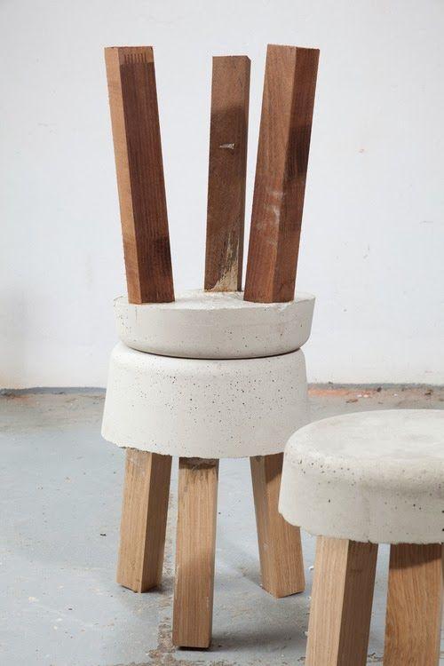 #DIY #Cement stools via LE CONTAINER