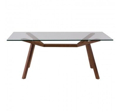 NOOD forte dining table glass top