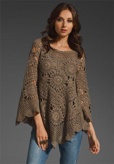 Gorgeous crochet poncho. Inspiration!