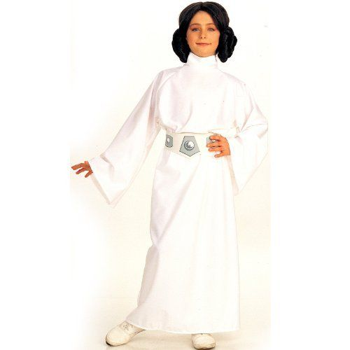 Star Wars Child's Deluxe Princess Leia Costume, Small Rubie's Costume Co. $25.23. From the Manufacturer                This Deluxe Princess Leia Costume is an officially licensed authentic Star Wars Costume. This Deluxe Star Wars Princess Leia Costume includes Princess Leia costume wig with side buns, white long-sleeved Princess Leia Costume dress, and printed belt.                                    Product Description                The officially licensed co...