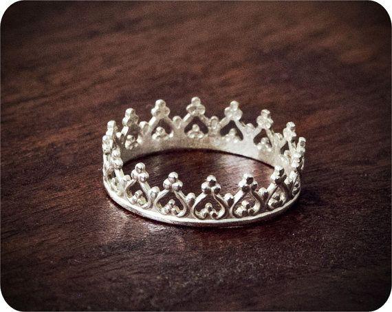 Leo Crown // Custom Sterling Silver Ring by LoveErica on Etsy, $30.00