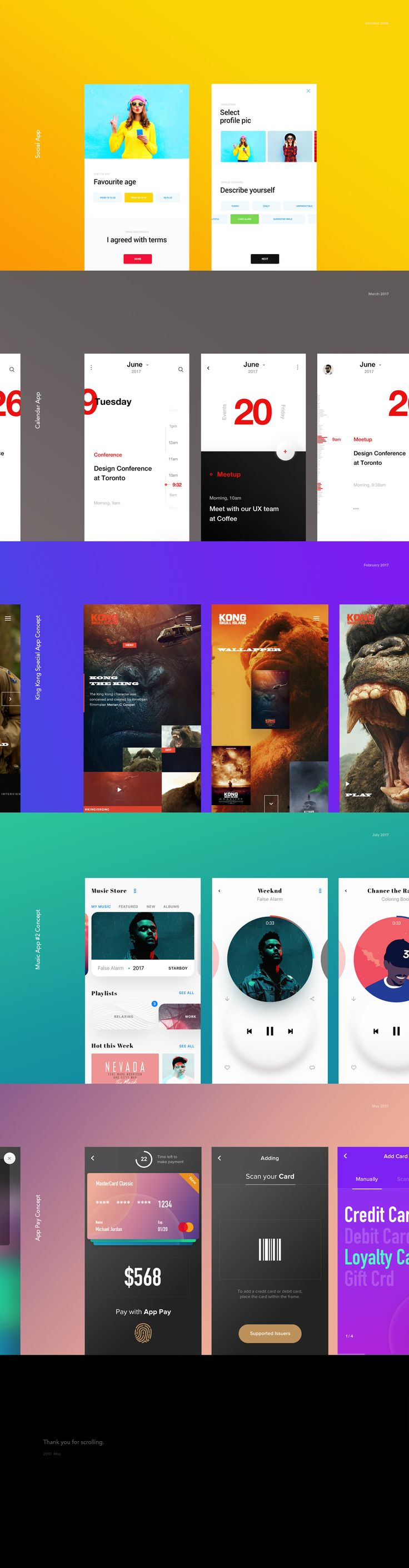 Mobile App Collection on Behance