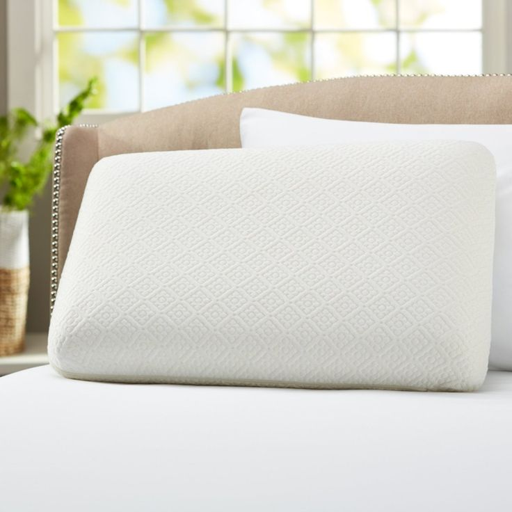 cool dreamz gel memory foam pillow with neck support