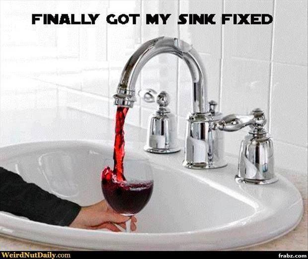 A Working Sink is a Wine Sink Meme Generator - Captionator Caption Generator - Frabz