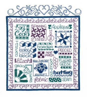 Imaginating Let's Quilt - Cross Stitch Pattern.