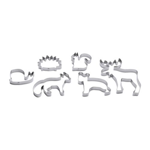 DRÖMMAR  Pastry cutter, set of 6, silver color  $3.99 #ikea #Moose #fox cookie cutters  @Candace Kennedy  @Andi Russo
