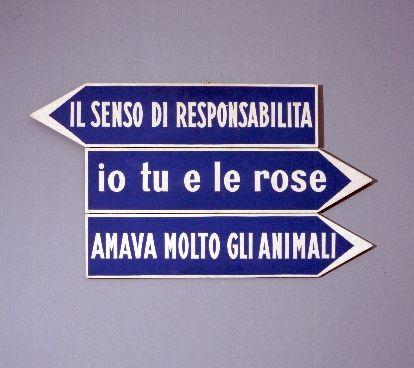 Ketty La Rocca - Segnaletiche
