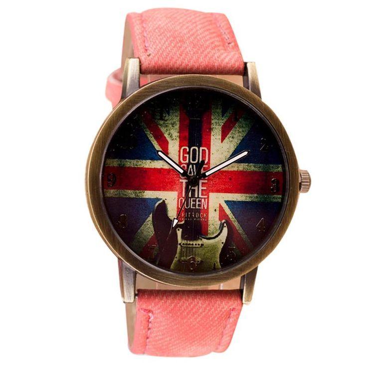 Ретро Мода ВЕЛИКОБРИТАНИИ Флаг Часы Relogio женщина для Часы Наручные Часы Женщины Мужчины Кварцевые Часы Reloj Mujer Мотрэ Femme #shoes, #jewelry, #women, #men, #hats, #watches, #belts