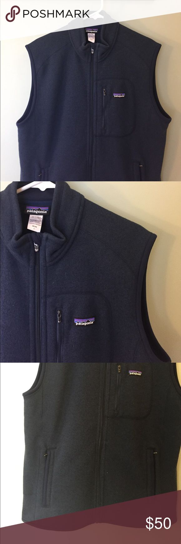Patagonia // men's vest Men's Patagonia vest in pretty much new condition. Only been worn a handful of times!! I believe this is the Better Sweater vest (it's the same material as the better sweater). Offers welcome! Patagonia Jackets & Coats Vests