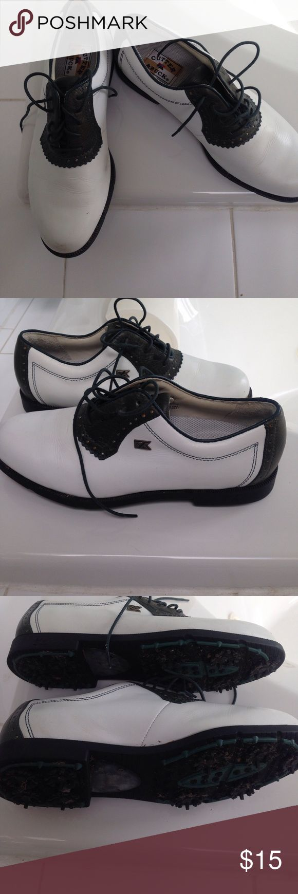 Golf shoes Very nice black and white golf shoes.   Worn twice. Cutter & Buck Shoes Athletic Shoes