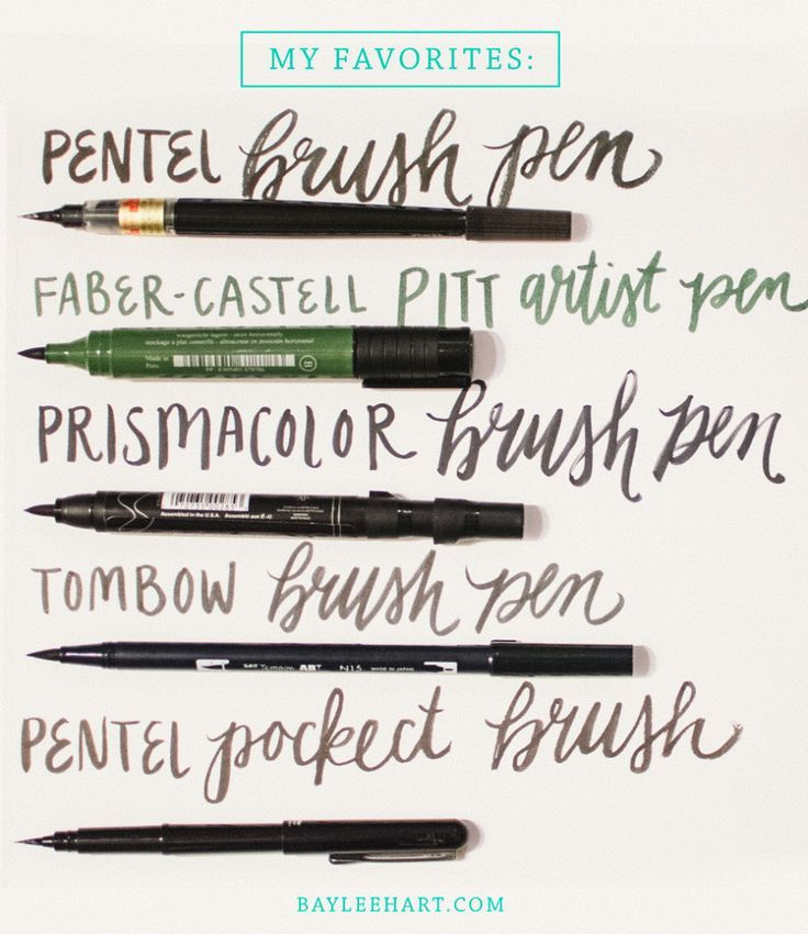 My favorite brush pens for hand lettering and a few tips for beginners! / bayleehart.com