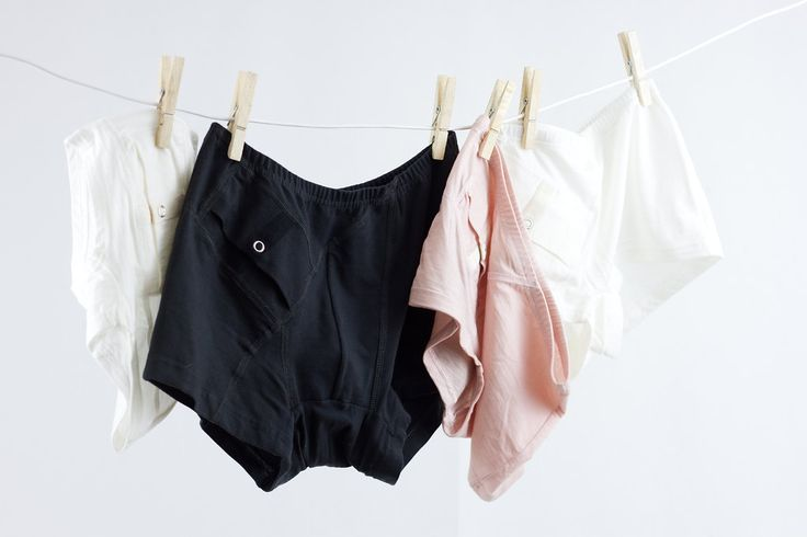 AnnaPS collection / Boxer briefs with short legs and one integrated pocket with button closure for all of your diabetic device storing needs! Comes in three colors, soot black, whisper white and dusty pink.