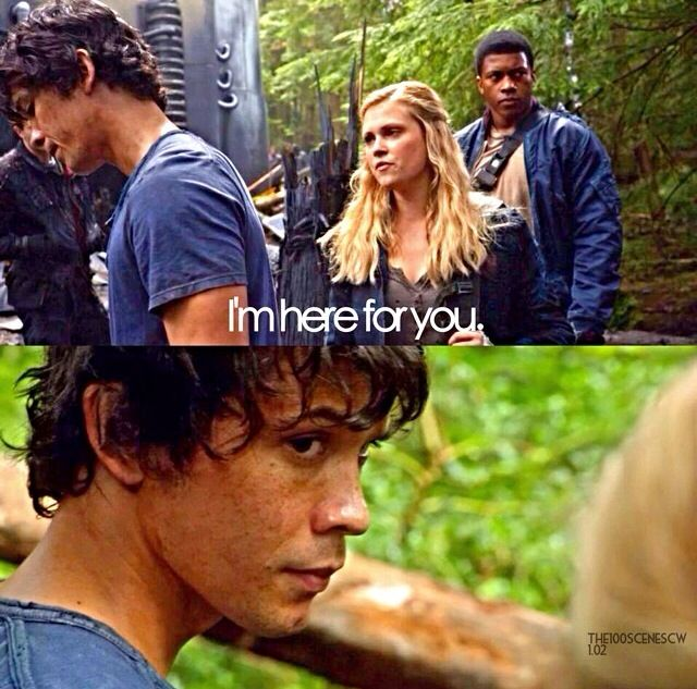 The 100 - Bellamy and Clarke. *SIGH* I seriously love these two. |CW||The 100|| #Bellarke||TV Shows|