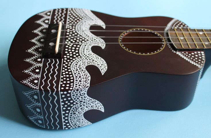 Zentangle-Inspired Painted Ukulele