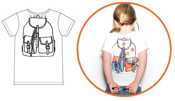 kleurplaat op t shirt zelf inkleuren t shirts