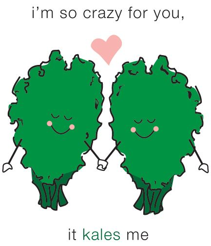 Share the Love! Send this kale-tastic Valentine's e-card to your friends & family. They will automatically receive it on Valentine's day!