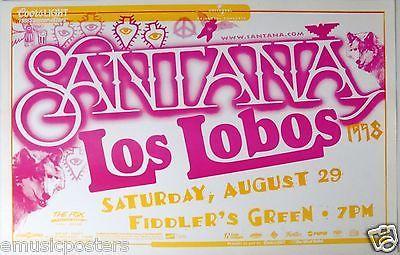 SANTANA / LOS LOBOS 1998 DENVER CONCERT TOUR POSTER