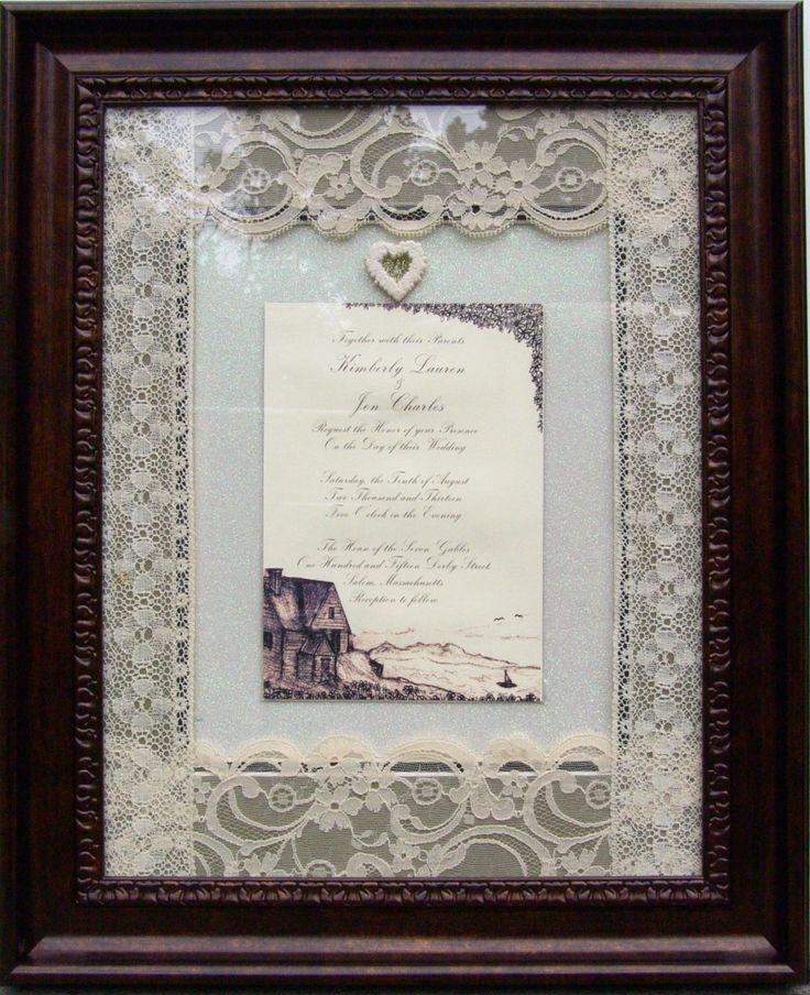 17 Best Images About Wedding Invitations Framed Keepsake