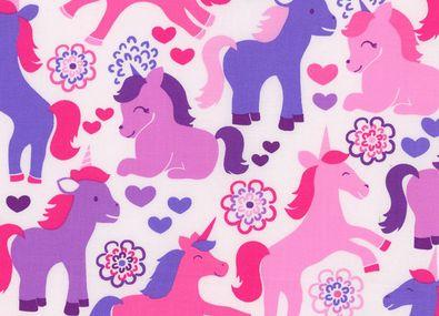 Magic Unicorns Cotton Lavender