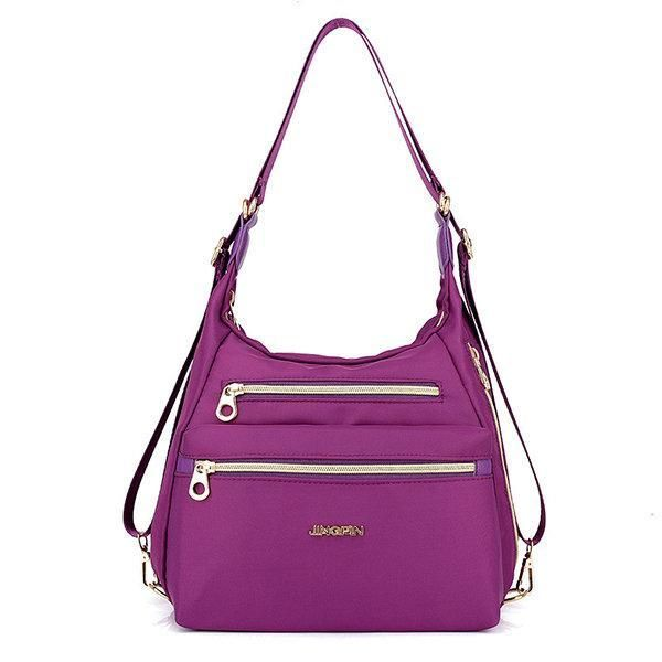 0ee08f495f3 Women Nylon Waterproof Double-sided Multifunctional Shoulder Bag ...