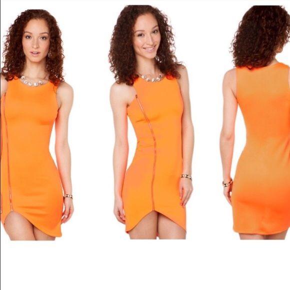 Deep orange party dress Pretty tight orange dress for a night out AKIRA Dresses Mini