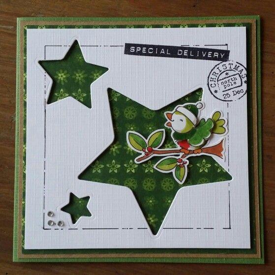 Kerstkaart met sterren