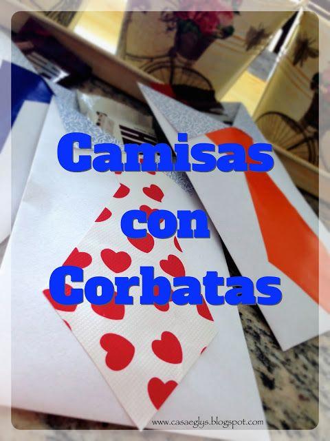 #DIY #empqtdbonito #camisas con #corbatas #shirt #tie #sobres #envelope
