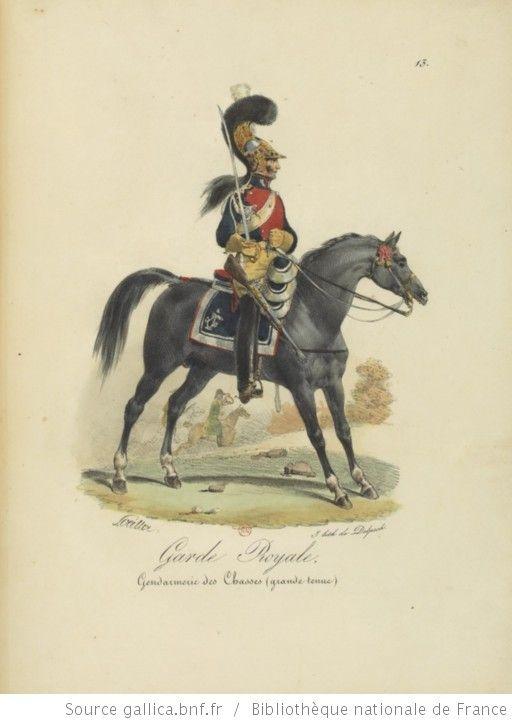 [Maison du Roi et garde royale de Louis XVIII, 1817.] / Ch. Aubry - 18