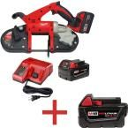 Milwaukee M18 18-Volt Lithium-Ion Cordless Band Saw with Free M18 4.0Ah Extended Capacity Battery