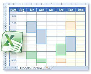 Modelos Grátis de Calendário Horário