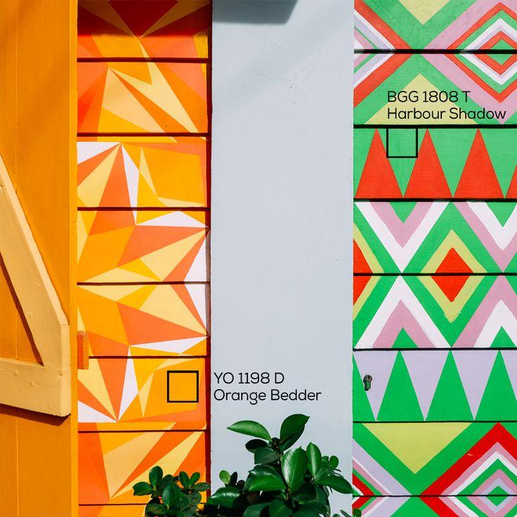 Beautiful colour movement.  #Colourful #colour #beautifulhouse #ImajinasiTanpaKompromi #Zigzag
