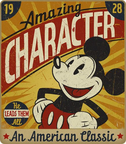 Mickey Mouse poster, 1928