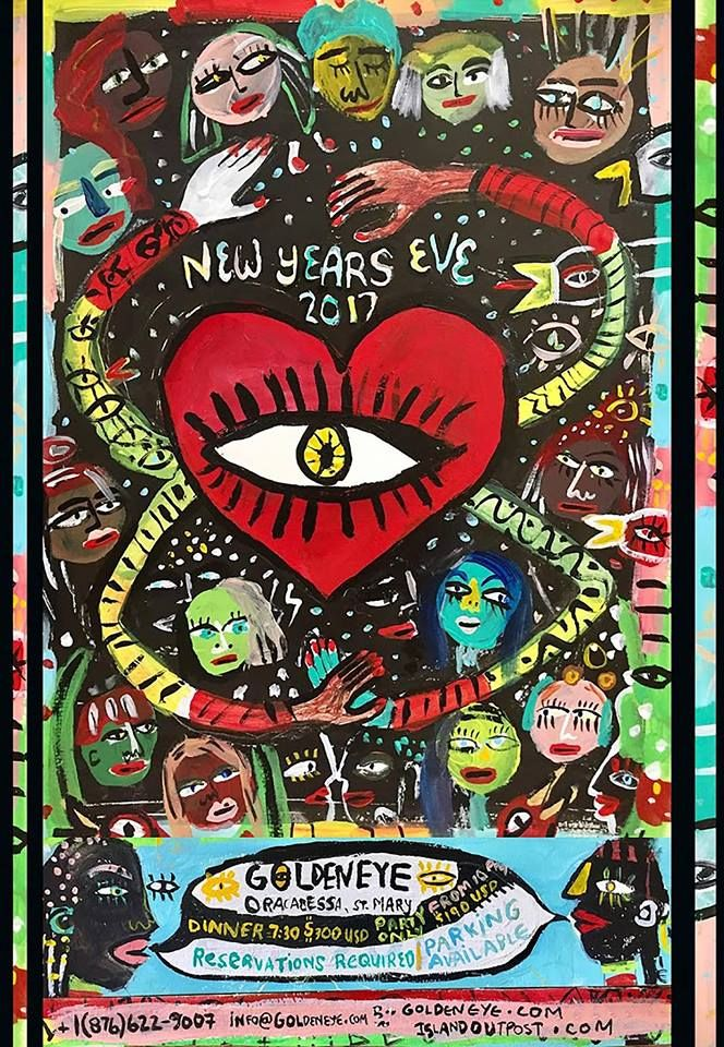 "New Year's Eve Featuring Fatima Robinson, Wild Belle & Adrian ""DJ DUBZ"" Wiltshire @ GoldenEye, Jamaica. We're celebrating 2016 with a New Year's Eve party like no other on the island: live music and DJs, delicious food, toasting, dancing, resolving and welcoming in the new.  Get your tickets online through TicketLeap or by emailing us on info@goldeneye.com #ddhrm #goldeneye #jamaica #newyearseve"
