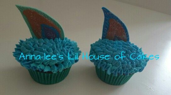 Peacock feathers cupcakes